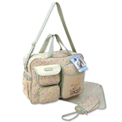 3pcs Baby Nappy Nappy Changing Bags - Beige Bear with Flowers 91351