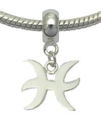 Silver Zodiac sign charms by BodyTrend - fits all pandora type bracelets & necklaces