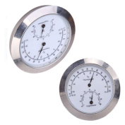 CNBTR Silver Alloy Guitar Violin Thermometer and Hygrometer Moisture Metre Humidity Monitor Thermometer