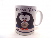 Thank You Teacher Cute Grey Owl Ceramic Gift Mug End OF Term / Year Present