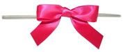 Reliant Ribbon 100 Piece Bow 2.5 Span X 1.75 Tails Twist Tie Ribbon, Shocking Pink, 1.6cm