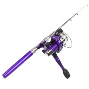 Portable Mini Aluminium Telescopic Pocket Pen Fishing Rod Pole & Reel Kit