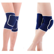 Fletion Unisex Breathable Thicked Crashproof Antislip Dance Volleyball or Other Sports Foam Cotton Kneepads Knee Support Knee Sleeves Brace Protector Pad Wrap tape for volleyball, dancing