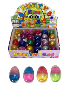 GLITTER Bouncing Putty Egg / Slime - Assorted Pastel Colours