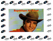 Elvis Presley collectables - Elvis Presley imperforate miniature stamp sheet celebrating his life and music - 2013 / Chad / 1000F
