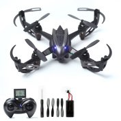 RC Drone with 2MP HD Camera Live Video RC Quadcopter 4CH 6-Axis Gyroscope 2.4 GHz Remote Control Quadcopter