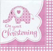 Sweet Baby Elephant Girl Napkins (Pack Of 18) by Party2u