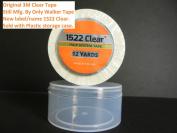 1522 Clear Tape 3m Clear 1.9cm X 12 yard roll sold w/ Plastic Storage Case