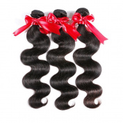 Silky Hair inches 3 Bundles 100g/Bundles Brazilian Virgin Human Hair Extensions Body Wave Hair Natural Colour