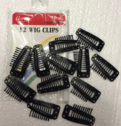 ANNIE 12 WIG CLIPS BLACK / LARGE