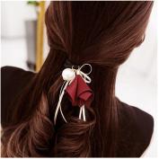 Casualfashion 6Pcs . Korean Morning Glory Flower Ribbon Hair Bows Hair Ties Ponytail Holder for Women Girls