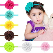 PETMALL 5pcs Hollow Elastic Hair Band Baby Headwear Fashion Brand New Christmas Gifts Headbands Girls Infant Bow Flower Hair Accessories E001