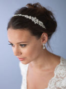 USABride Wedding Headband with Rhinestones Decorative Bridal Headpiece for Women Side Headband TI-3289
