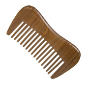 Casualfashion Portable Natural Green Sandalwood Comb Pocket Beard Hair Comb Hair Care Gift