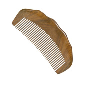 Casualfashion Wooden Comb Natural Green Sandalwood Comb Handmade Durable Thick Anti-static Hair Comb