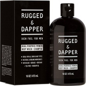 Dual Purpose Power Body Wash + Shampoo For Men - 470ml - All-In-One Soap - Natural & Certified Organic Ingredients - RUGGED & DAPPER