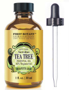 100% Pure Australian Tea Tree Essential Oil with 45% Terpinen-4-ol, 30ml A Known Solution to Help in Fighting Acne, Toenail Fungus, Dandruff, Yeast Infections, Cold Sores..