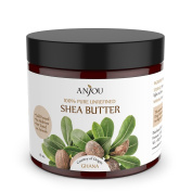 Anjou Unrefined Shea Butter from Africa 470ml - 100% Pure, Raw