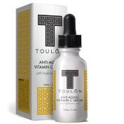 Vitamin C Serum with Hyaluronic Acid for Face; Reduce Wrinkles & Sun Spots; Natural and Organic