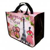 "French Shopping Bag ""Merveilles De Paris"" 43cm X 34cm X 18cm"