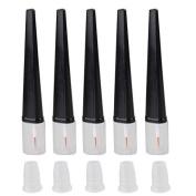 Teensery 5 Pcs 8ml Empty Mascara Tube Eyelashes Tube Eyeliner Vials Bottle Tube With Plug