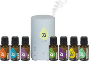 Essential Oil Diffuser Variety Pack - Refresh, Moisturise, and Infuse the air with a Healing Aroma - Kit Includes 100% Therapeutic Essential Oils & Blends and a 50ml Diffuser
