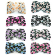 Casualfashion Pack of 6 Lady Women's Awesome Double Combs Beaded Flower Hair Comb Hairpin Barrette Jewellery Gift