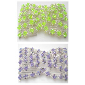 Casualfashion 2Pcs Womens Magic Beads Double Hair Grip Comb Clip Stretchy Hairpins Combs
