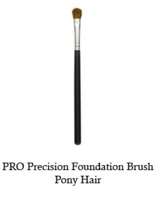 Tootloo® Professional High PRO Precision Foundation Brush With Brown Pony Hair Bristles 15cm - 1.3cm Black Wooden Handle. For eye shadow, blush, powder, foundation, and lips.