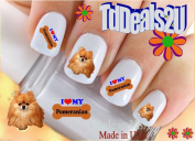 Pomeranian I Love - WaterSlide Nail Art Decals - Highest Quality! Made in USA