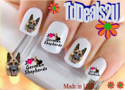 German Shepherd I Love - Dog Breed Nail Decals - WaterSlide Nail Art Decals - Highest Quality! Made in USA