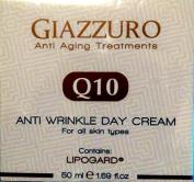 Giazzuro Anti Ageing Treatments Q10 Anti Wrinkle Day For All Skin Types Contains Lipogard,50 ml / 1.69 fl oz.