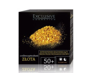 Exclusive Cosmetics Anti-Wrinkle Cream Day and Night with Gold Microparticles Age 50+, 1.7 oz/ 50 ml