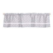 Grey Arrow Print Window Valance by The Peanut Shell - 100% Cotton Sateen