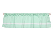 Mint Green Tailored Window Valance by The Peanut Shell - 100% Cotton Sateen