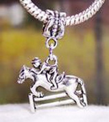 Pugs & Pandoras Horse Jumping Equestrian Olympics Dangle Bead for Silver European Charm Bracelet PP21642
