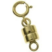 14K Gold Filled 4.5mm Magnetic Clasp Converter For Necklaces / Bracelets with 5mm Spring Ring Clasp