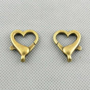 130 PCS Jewellery Making Charms Findings Supply Supplies Crafting Lots Bulk Wholesale Antique Bronze Tone Plated 58511 Chain Heart Lobster Clasps