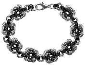 Weave Got Maille KIT-260.09 Swirls Chain Bracelet Kit, Onyx