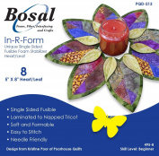 Bosal In-R-Form Unique Single Sided Fusible Foam Stabiliser 13cm x 20cm Heart/Leaf 8/pkg