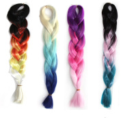 Stepupgirl 60cm 1 Piece Ombre Synthetic Big Africa Braid