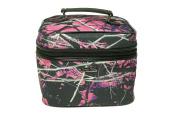 Muddy Girl Purple Pink Carry Handle Cosmetic Bag 25cm x 20cm x 20cm