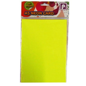 A5 Neon Fluorescent Display Card - Pack of 24 - Mixed Colours - Size 2.5m x 1.8m - by Pennine