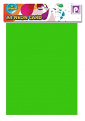 A4 Neon Fluorescent Display Card - Pack of 12 - Mixed colours - Size 3.6m x 2.5m - by Pennine