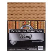 Kraft Patterned Core'dinations Value Pack Cardstock 22cm x 28cm 25/Pkg