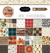 American Crafts Pebbles Patterned PB JH Warm & Cosy Paper Pads (48 Sheets), 30cm x 30cm