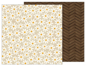 American Crafts Pebbles Patterned PB JH Warm & Cosy Paper, Daisy