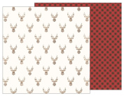 American Crafts Pebbles Patterned PB JH Warm & Cosy Paper, Antlers