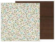 American Crafts Pebbles Patterned PB JH Warm & Cosy Paper, Sprigs