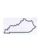 Kentucky State Stencil Made from White 4 ply Mat Board